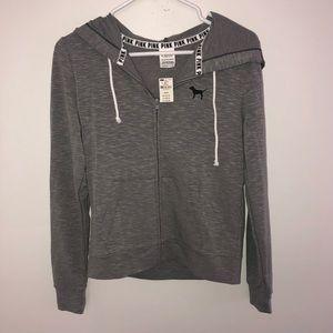 Victoria's Secret PINK NWT Grey Zip-up Hoodie